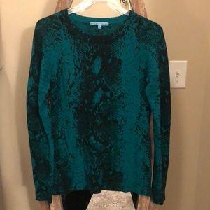 Antonio Melani Snakeskin Cashmere Sweater